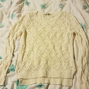 LOFT off-white knit sweater L